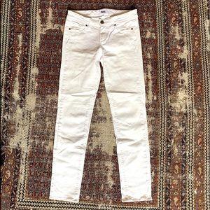 Paige white denim skinny jeans